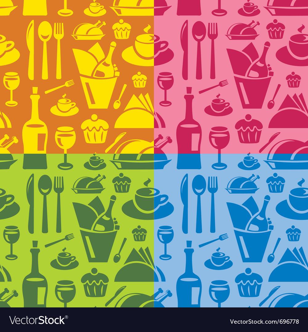 Restaurant seamless pattern vector | Price: 1 Credit (USD $1)