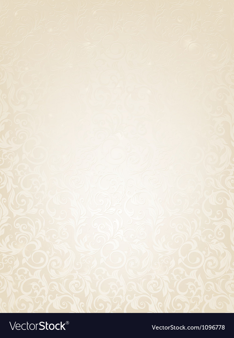 Seamless white floral pattern vector | Price: 1 Credit (USD $1)