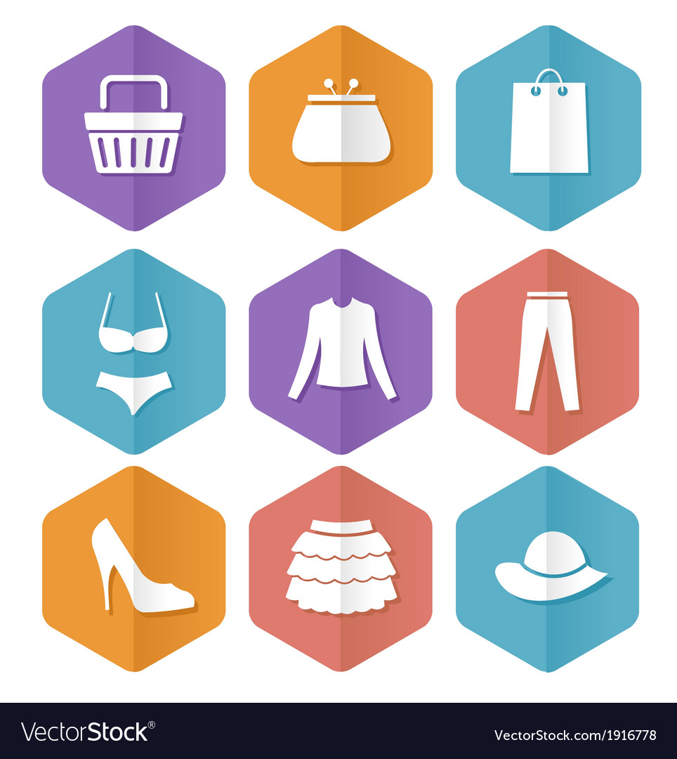 Set of modern flat sale icons shopping vector | Price: 1 Credit (USD $1)