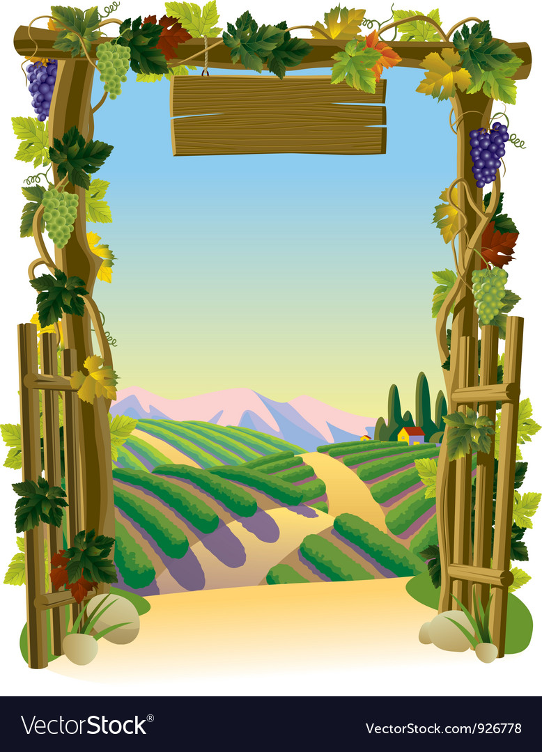 Vineyard gate vector | Price: 3 Credit (USD $3)