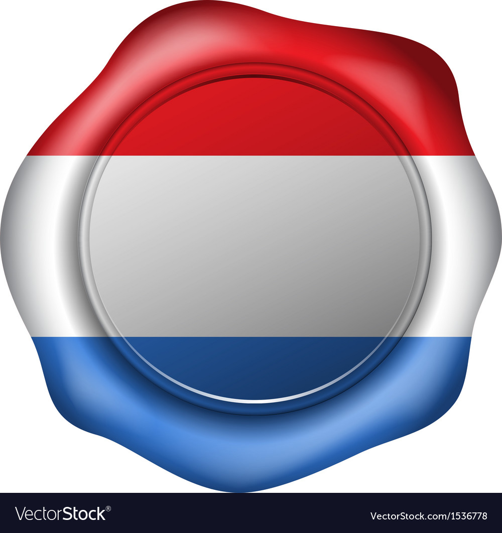 Wax seal with the dutch flag vector | Price: 1 Credit (USD $1)