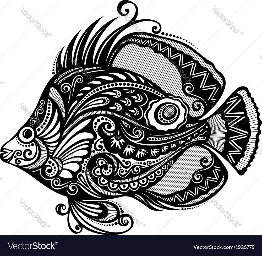 Abstract sea fish vector | Price: 1 Credit (USD $1)