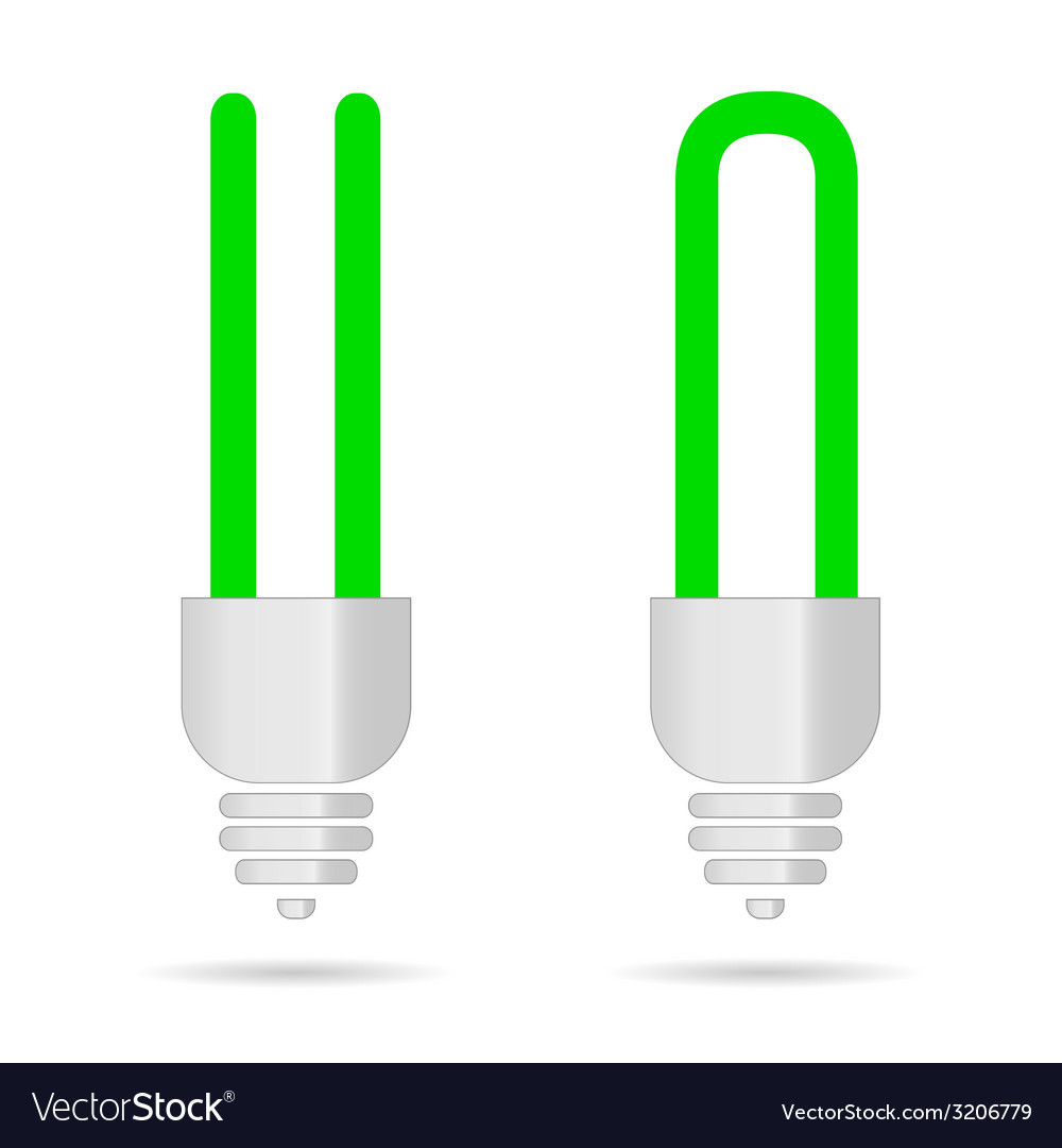 Green bulb vector | Price: 1 Credit (USD $1)