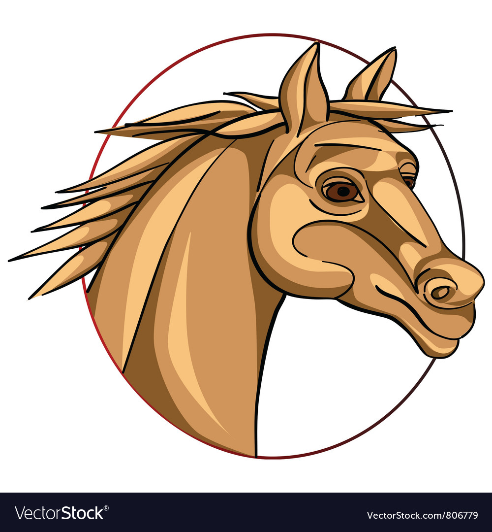 Horse sign vector | Price: 1 Credit (USD $1)