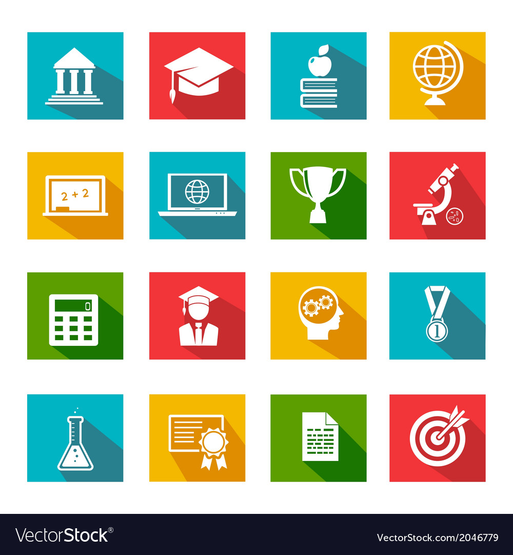 Internet education icons vector | Price: 1 Credit (USD $1)