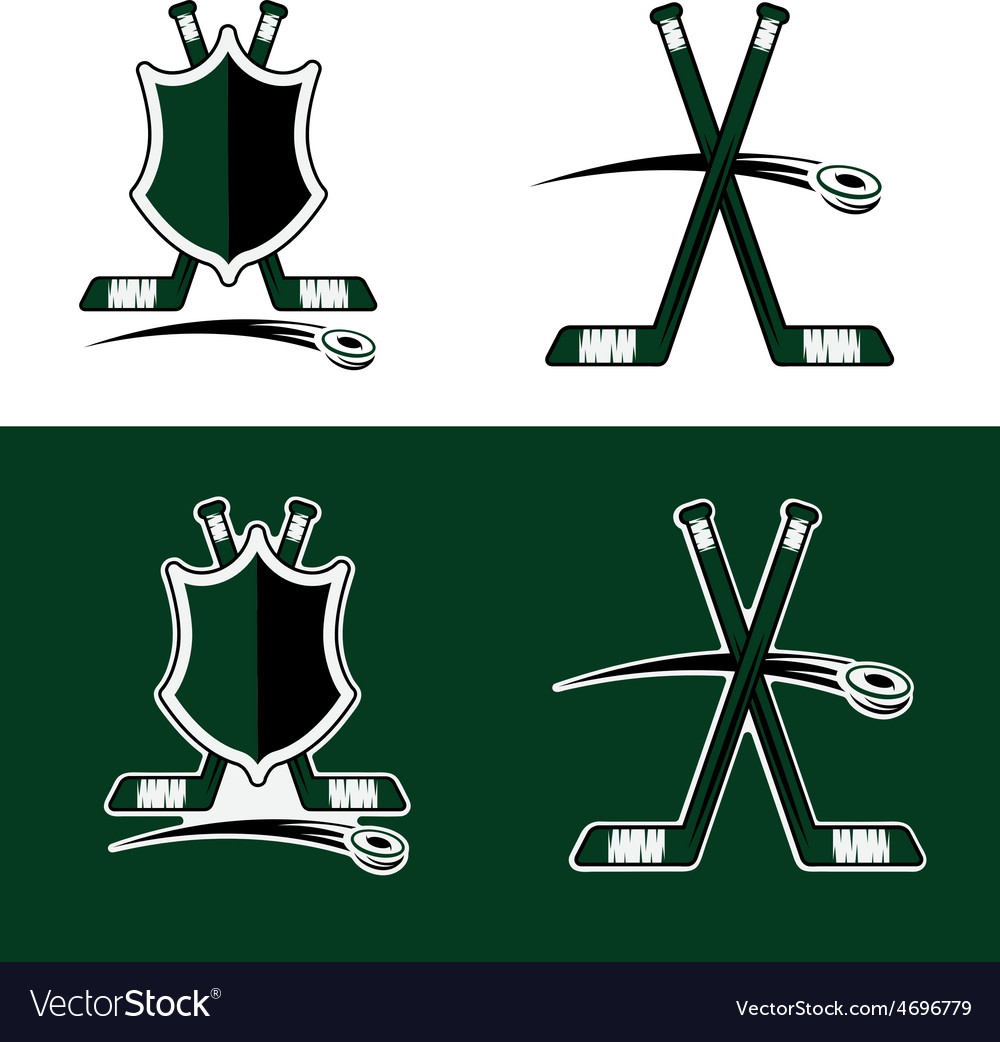 Set of hockey sport crests vector | Price: 1 Credit (USD $1)