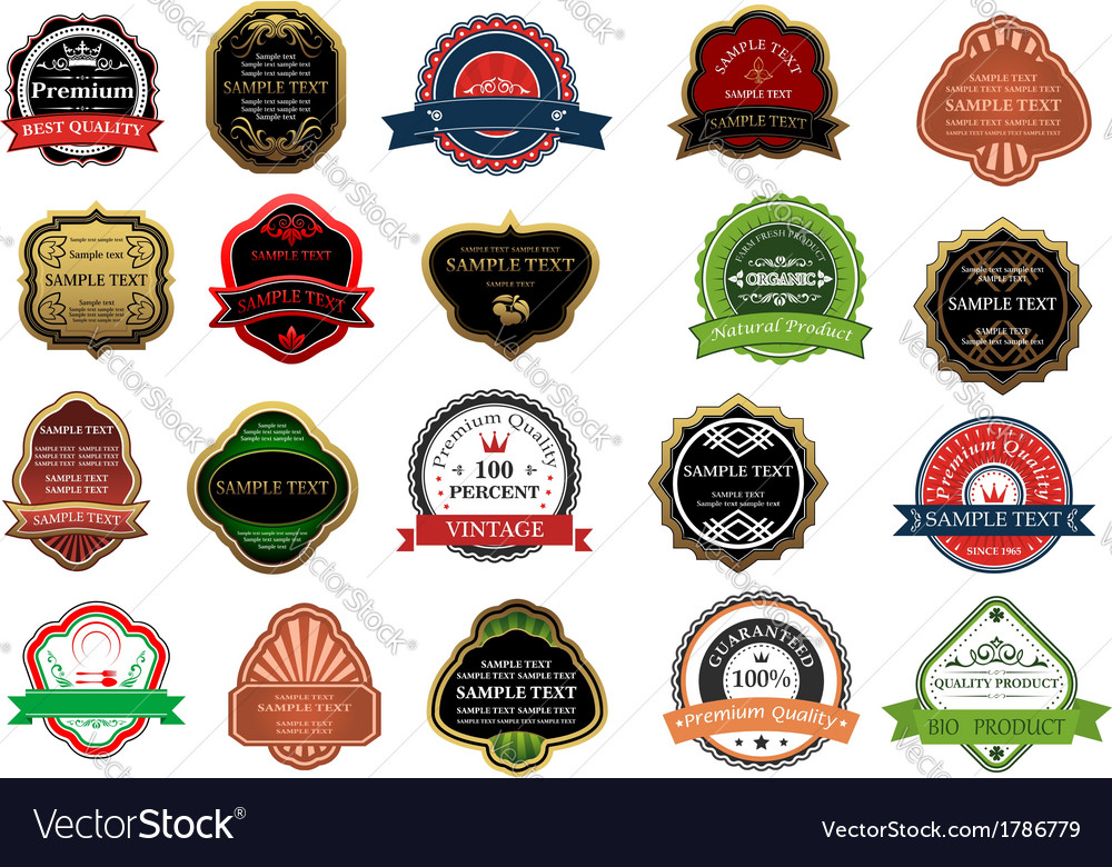 Set of promotion badges for retail business vector | Price: 1 Credit (USD $1)