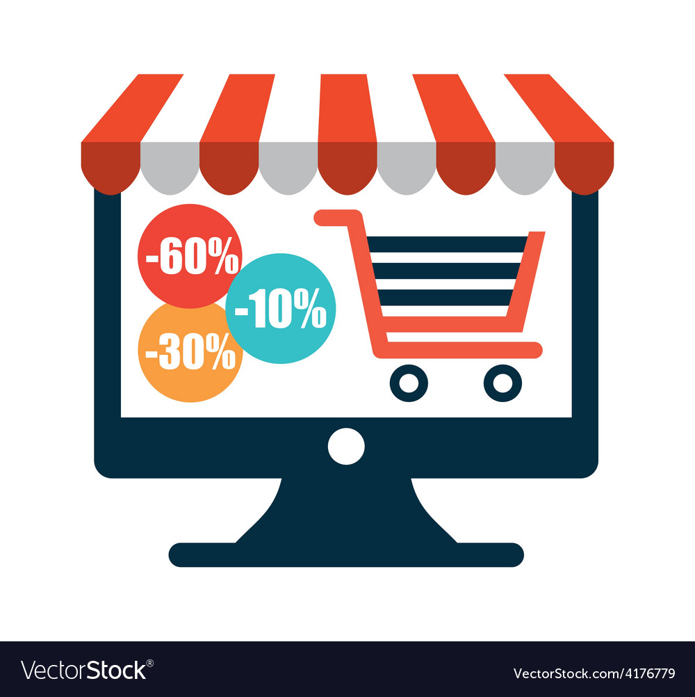Shopping on line vector | Price: 1 Credit (USD $1)