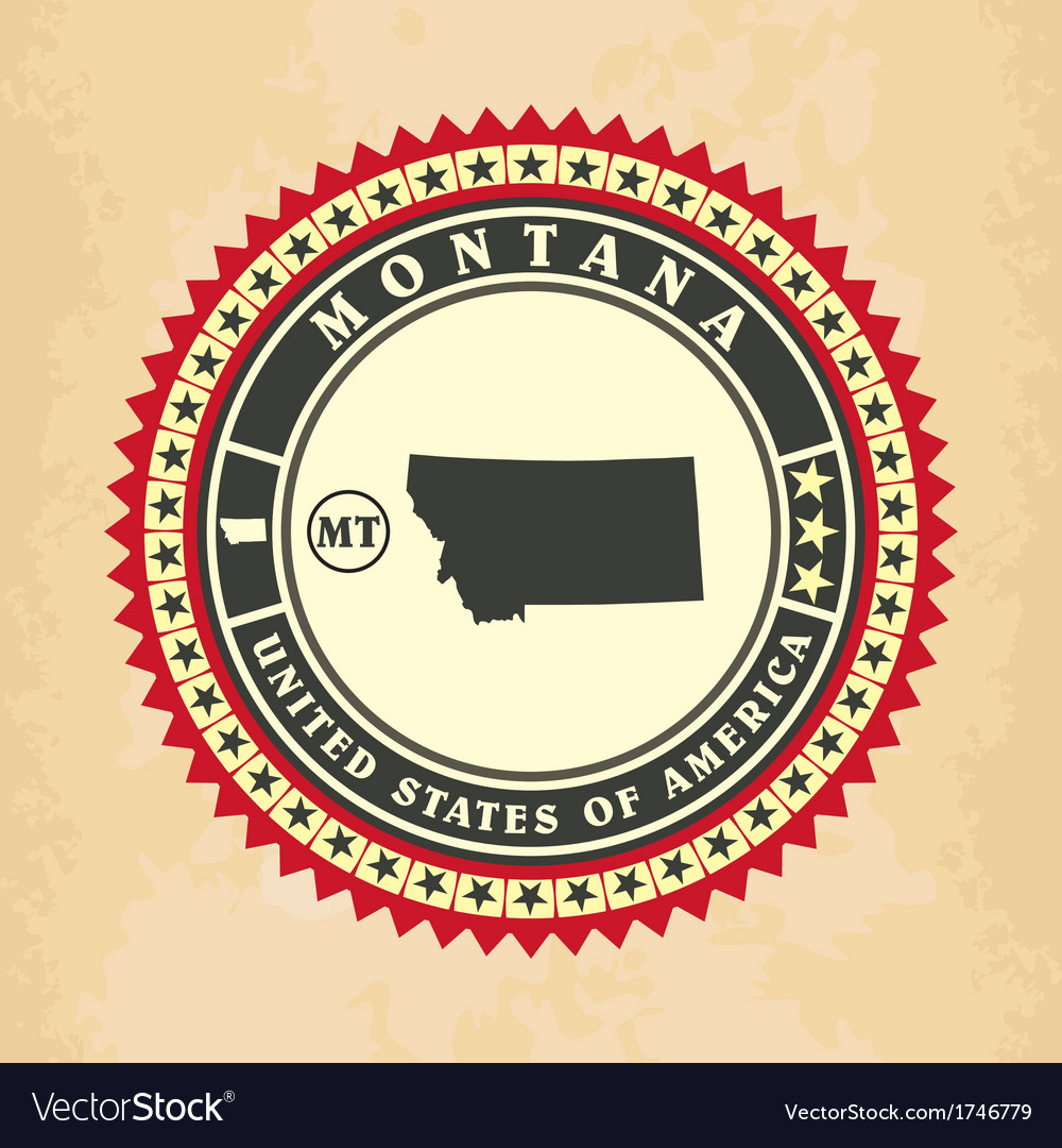 Vintage label-sticker cards of montana vector   Price: 1 Credit (USD $1)