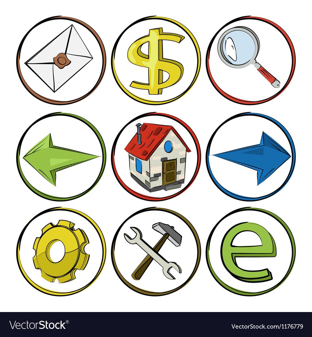 Web icons sketch vector | Price: 1 Credit (USD $1)