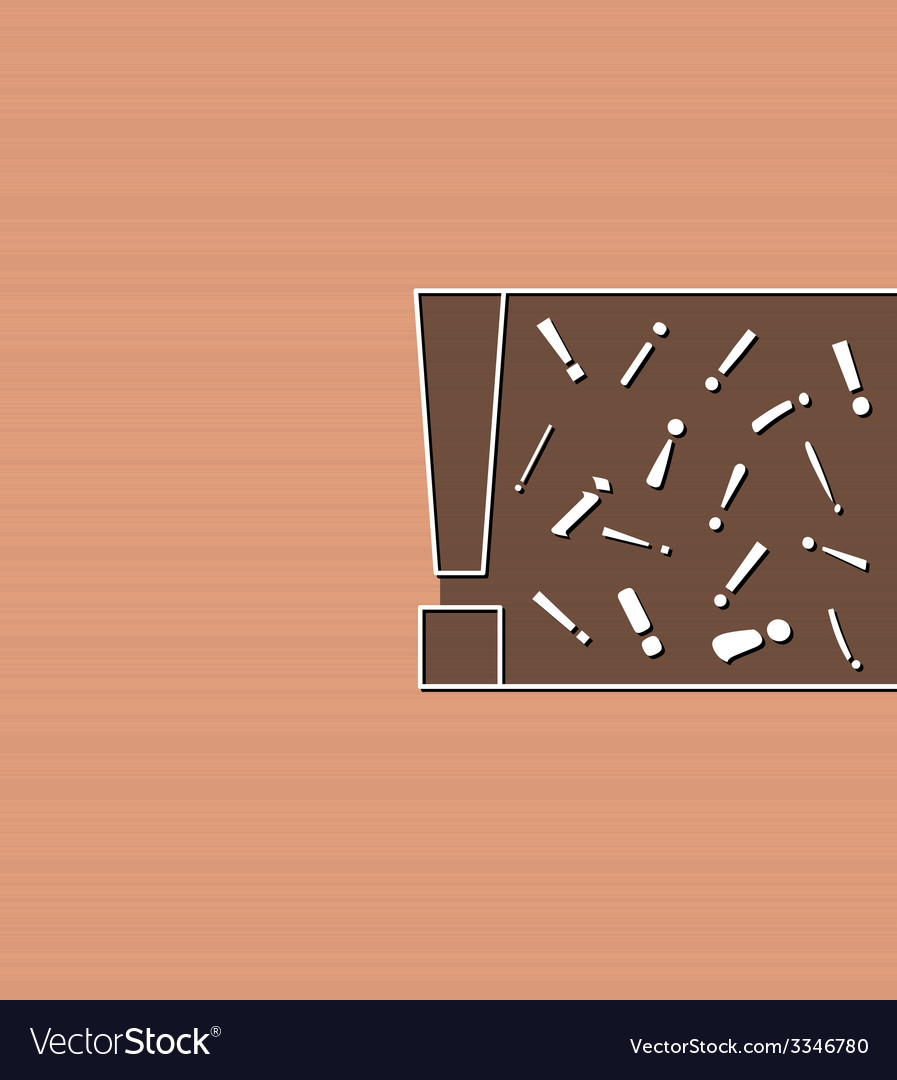 Background with section exclamation marks vector   Price: 1 Credit (USD $1)