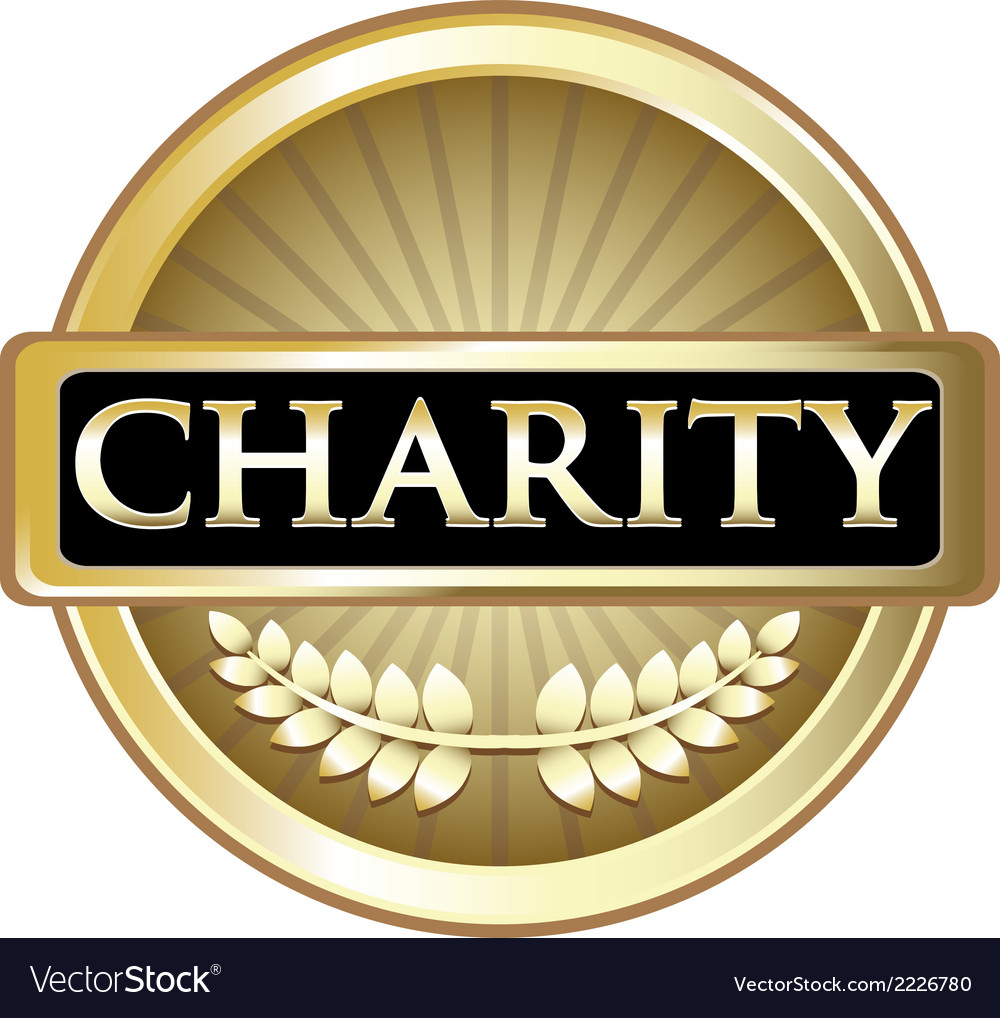 Charity gold label vector | Price: 1 Credit (USD $1)