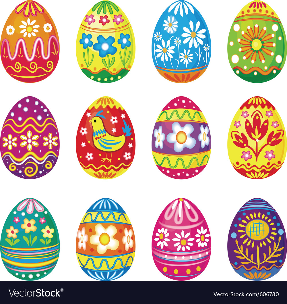 Collection of eggs vector | Price: 1 Credit (USD $1)
