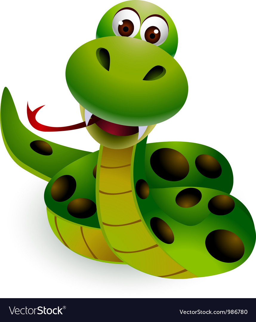 Cute snake cartoon vector | Price: 1 Credit (USD $1)
