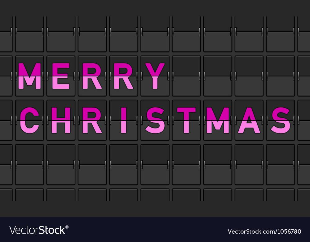 Merry christmas flip board vector   Price: 1 Credit (USD $1)