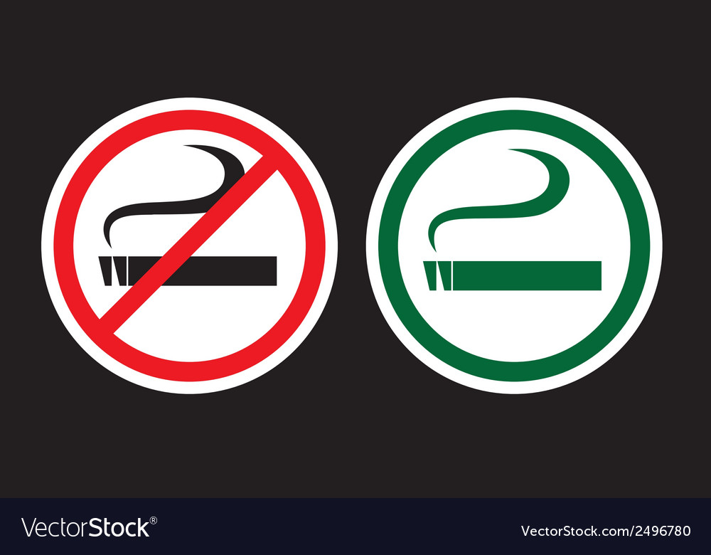 No smoking and smoking zone vector | Price: 1 Credit (USD $1)