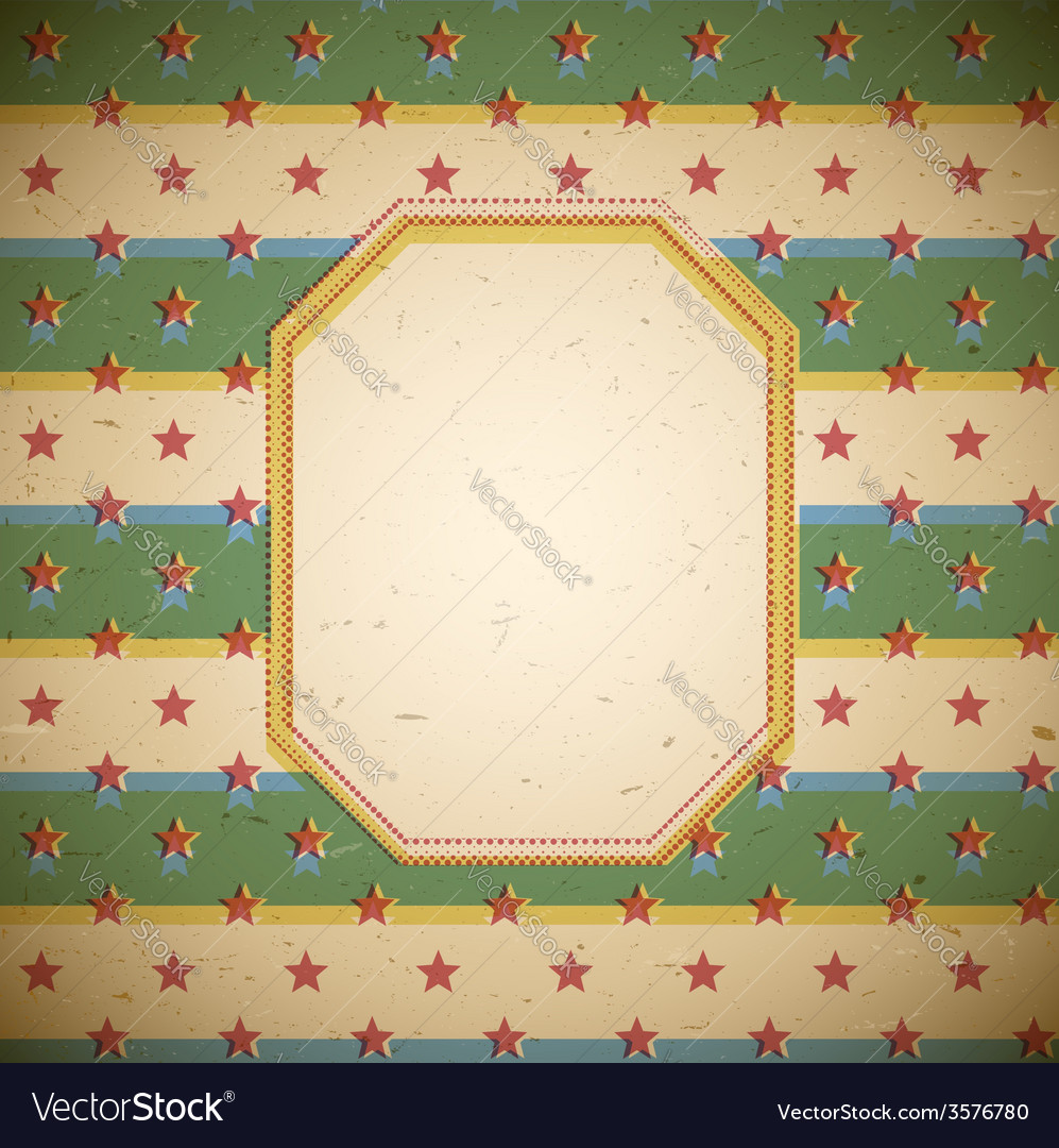 Retro frame with stars vector | Price: 1 Credit (USD $1)