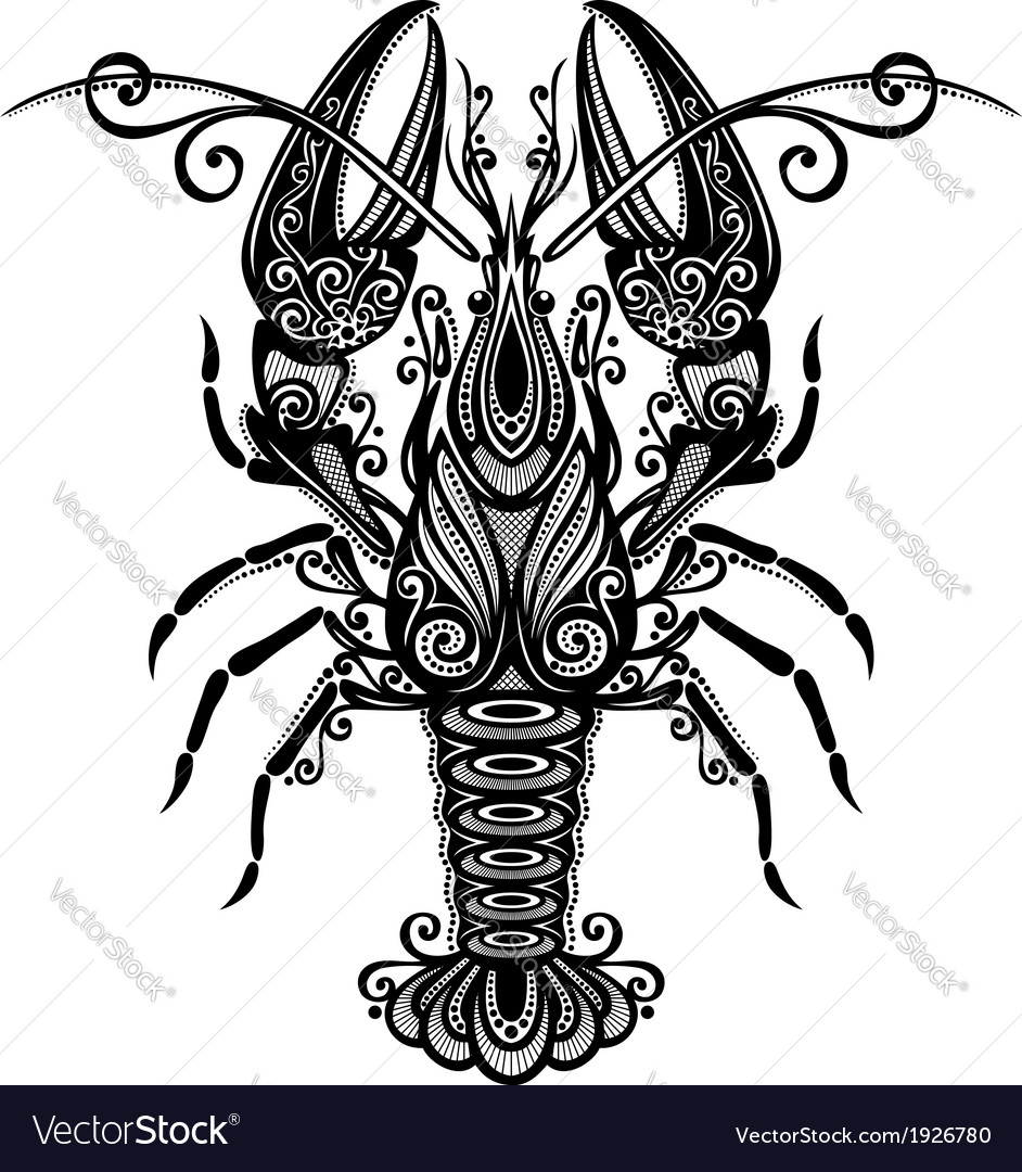 Sea lobster vector | Price: 1 Credit (USD $1)