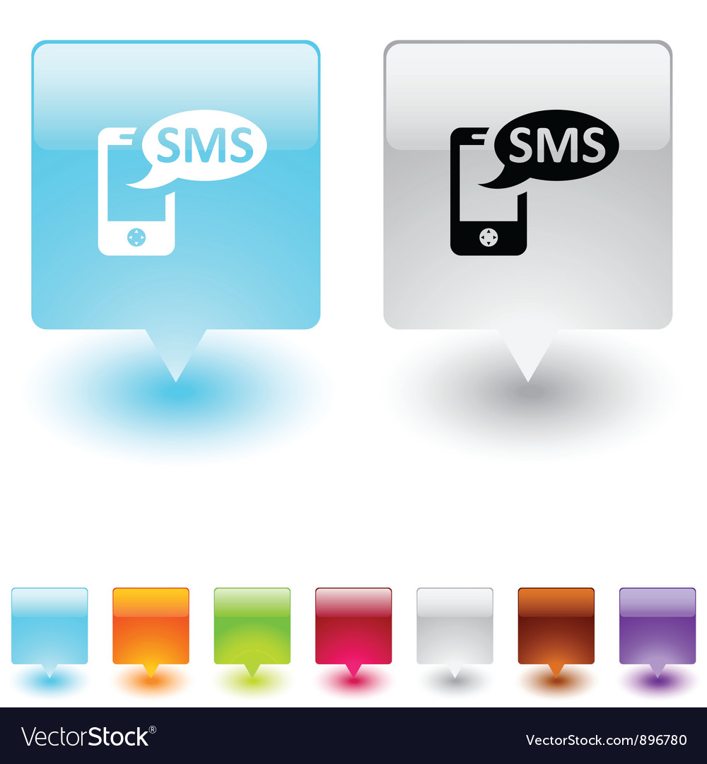 Sms square button vector | Price: 1 Credit (USD $1)