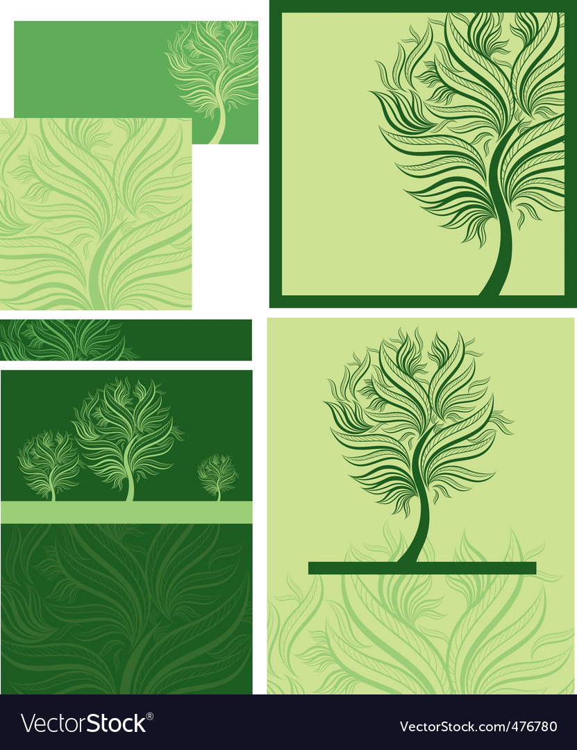 Spring trees vector | Price: 1 Credit (USD $1)