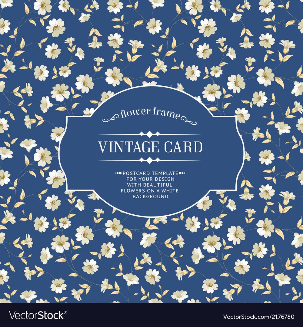 Vintage card design vector | Price: 1 Credit (USD $1)
