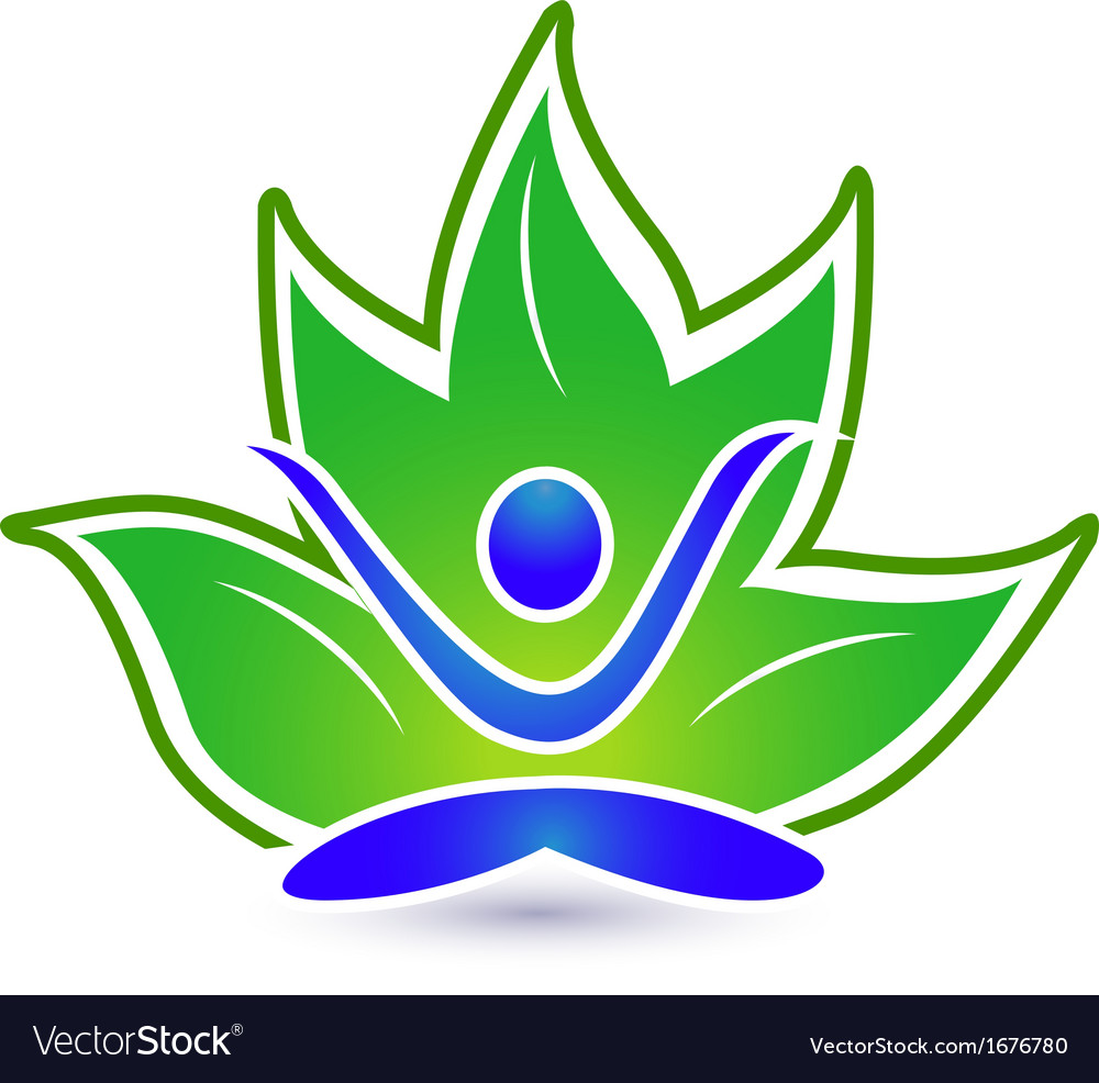 Yoga lotus logo vector | Price: 1 Credit (USD $1)