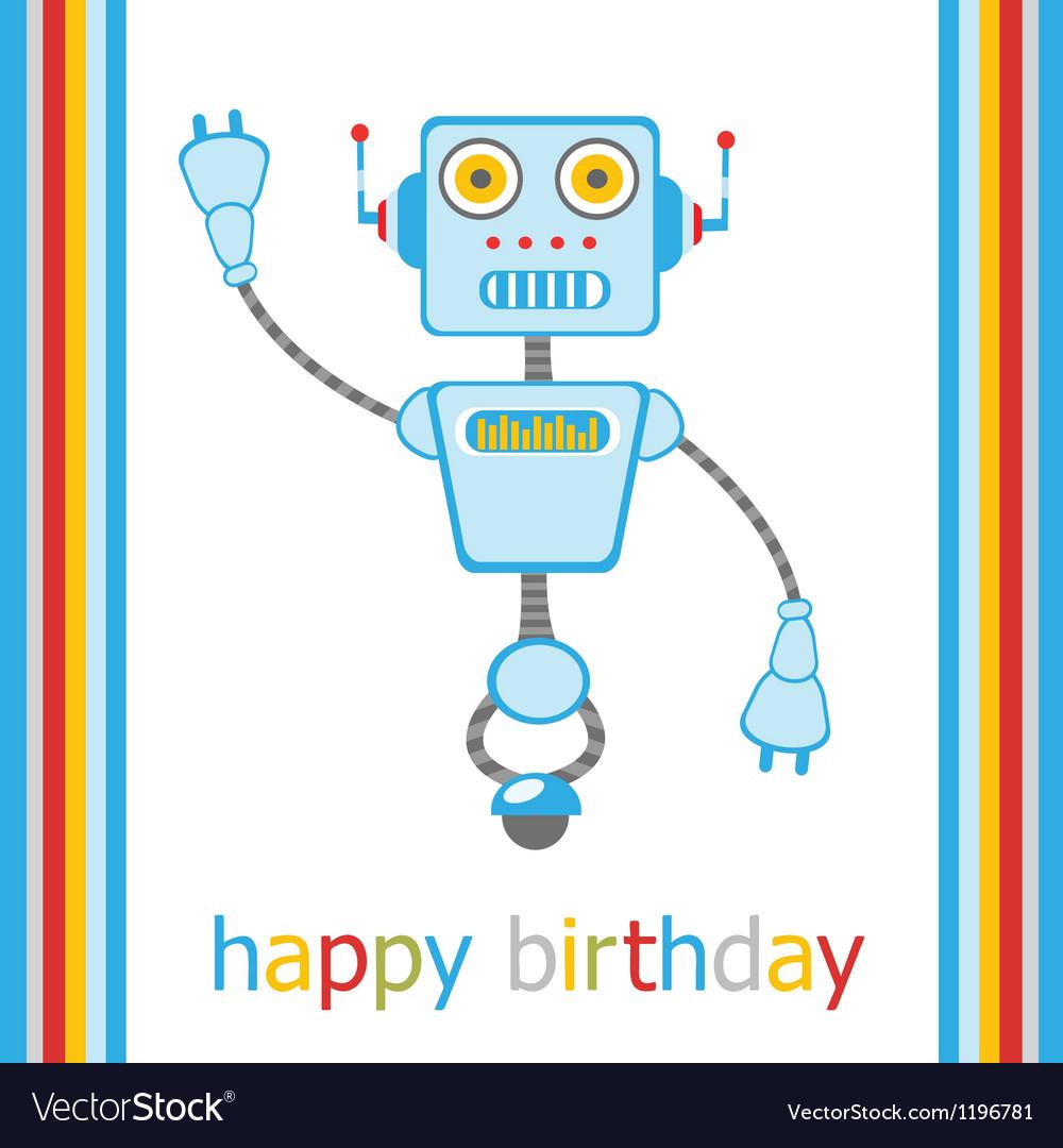 Birthday robot vector | Price: 3 Credit (USD $3)