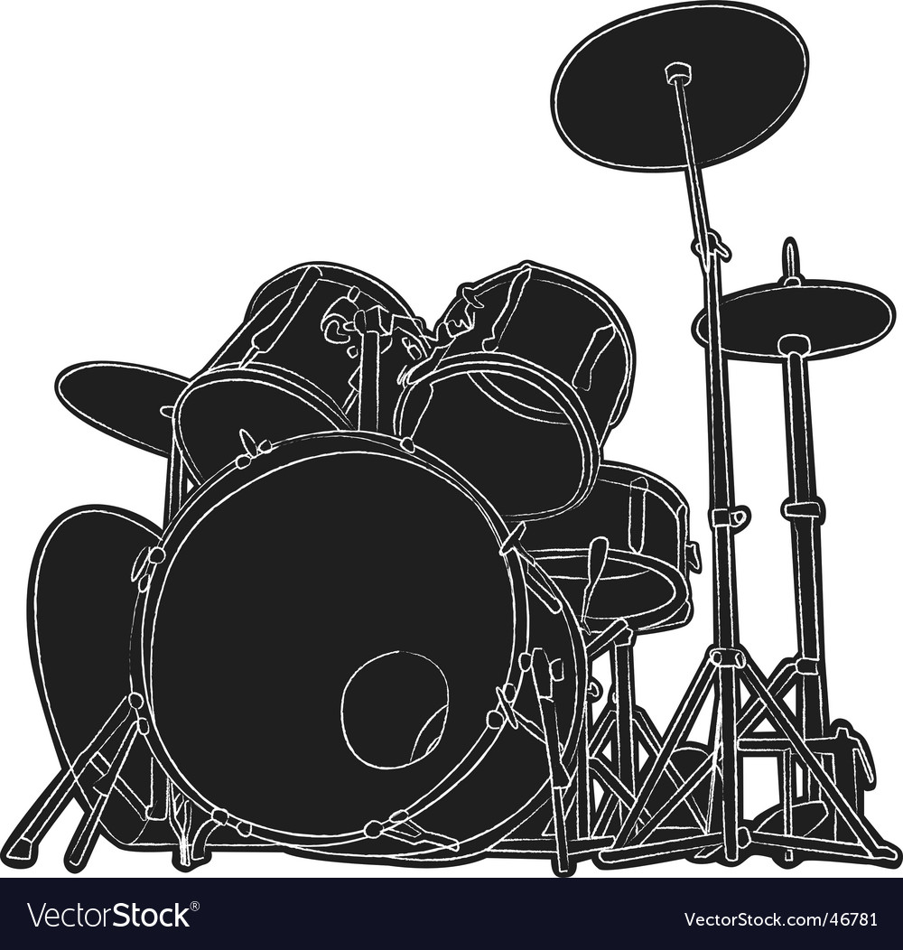 Drums sketch vector | Price: 1 Credit (USD $1)