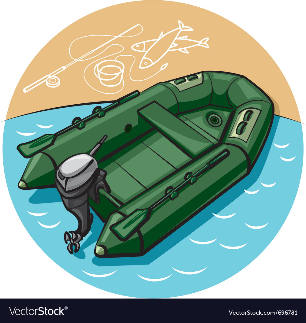 Inflatable rubber boat vector | Price: 3 Credit (USD $3)