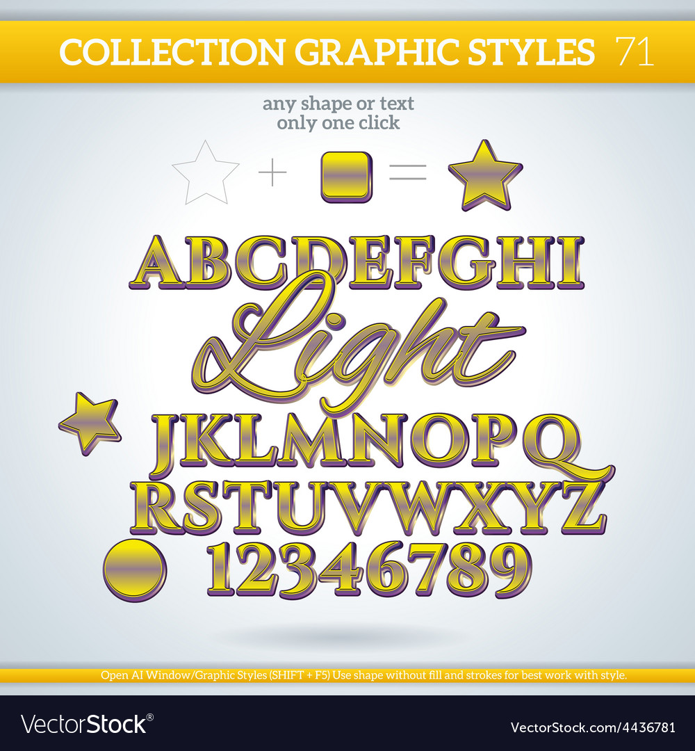 Light graphic styles for design use for decor text vector