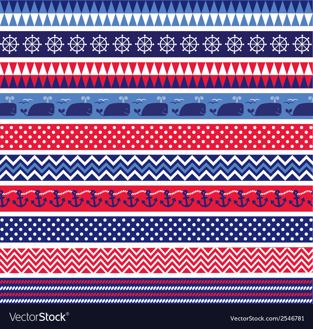 Nautical borders vector | Price: 1 Credit (USD $1)