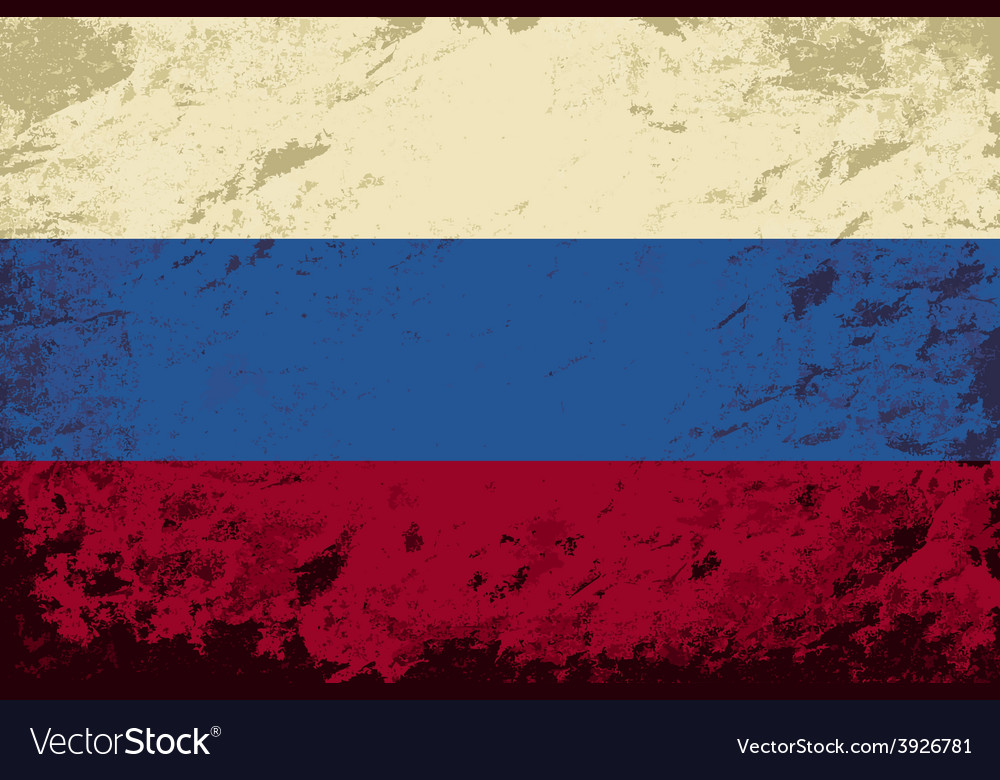 Russian flag grunge background vector | Price: 1 Credit (USD $1)
