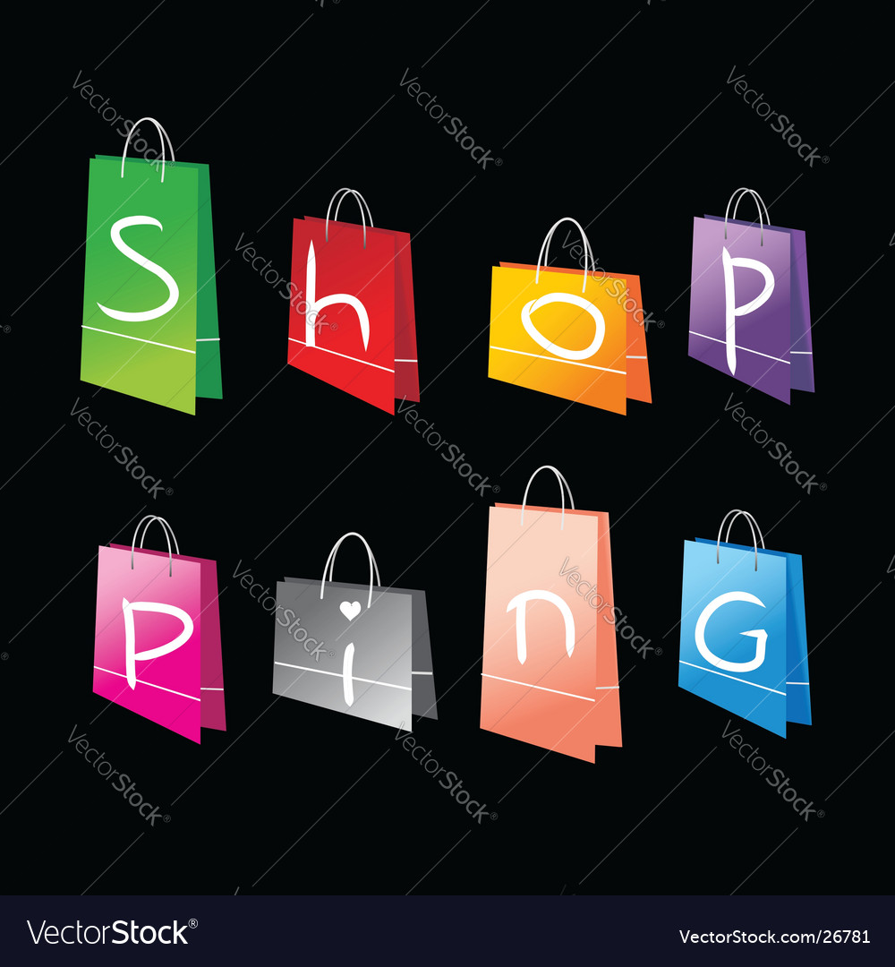 Shopping bags for you design vector | Price: 1 Credit (USD $1)