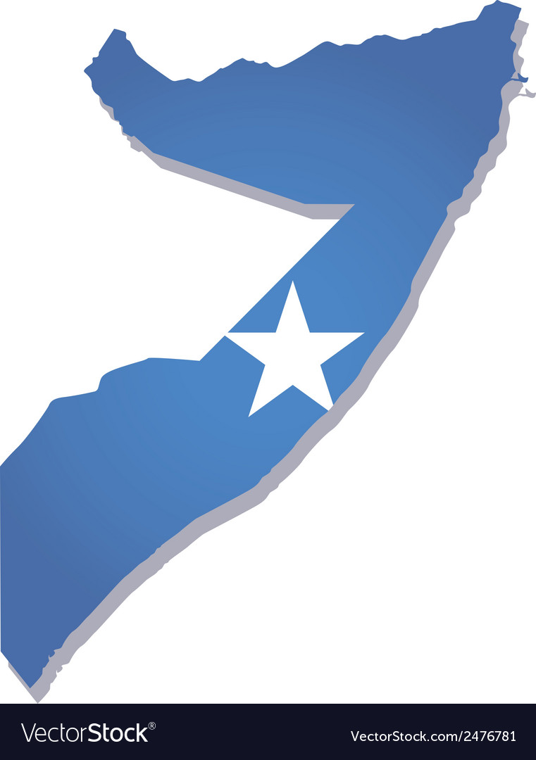 Somalia africa map flag vector | Price: 1 Credit (USD $1)