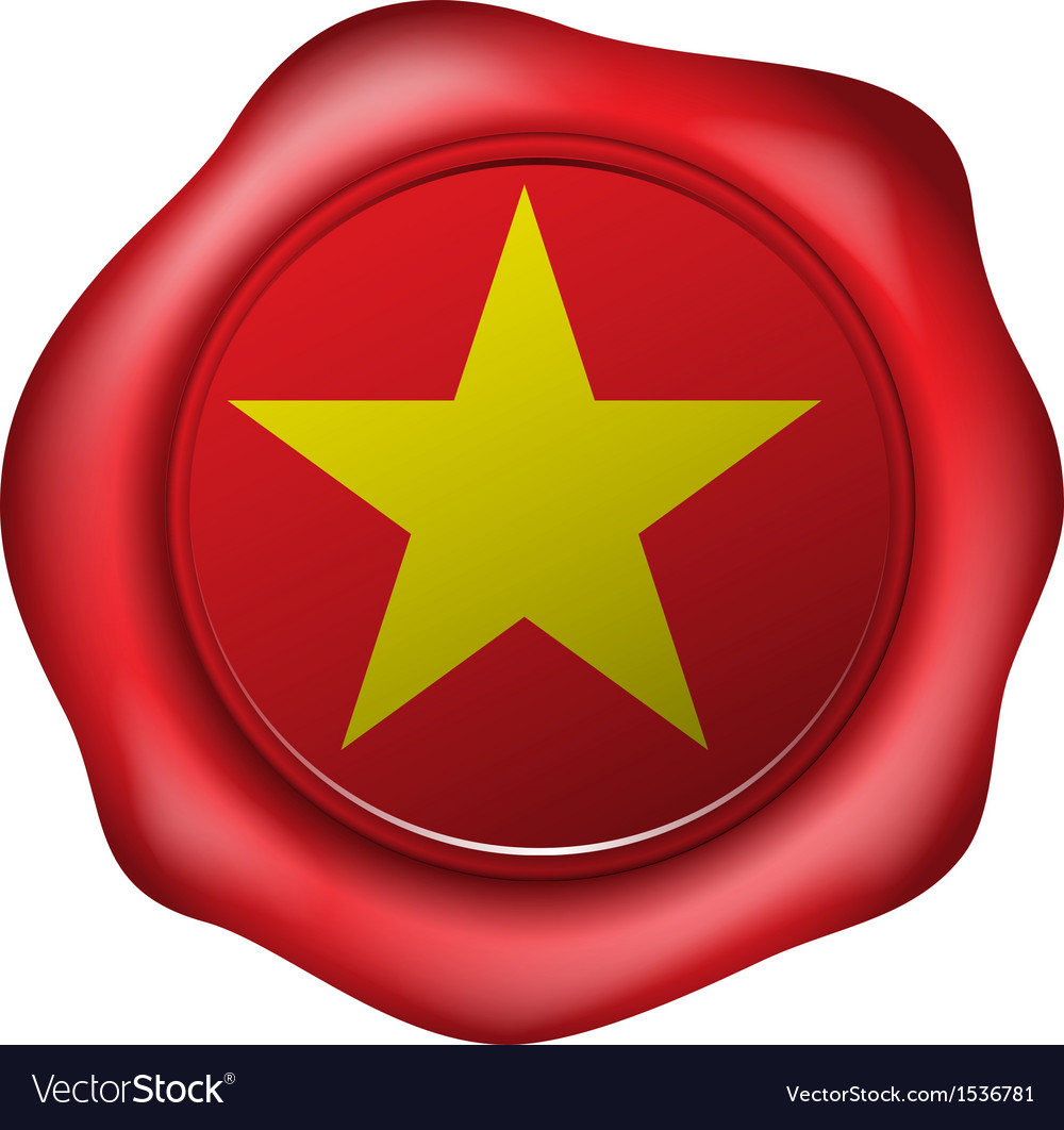 Wax seal with the vietnam flag vector | Price: 1 Credit (USD $1)