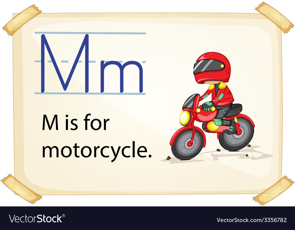 A letter m for motorcycle vector | Price: 1 Credit (USD $1)