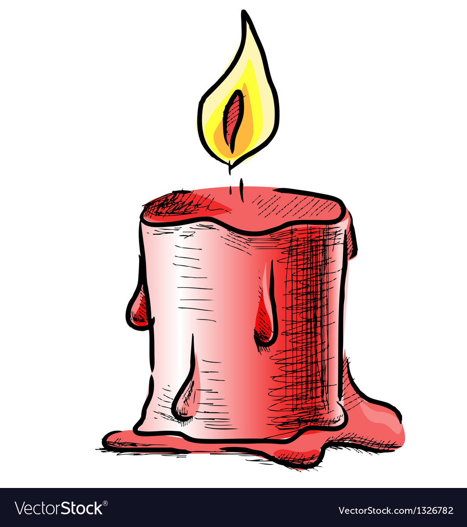 Candle with fire vector | Price: 1 Credit (USD $1)