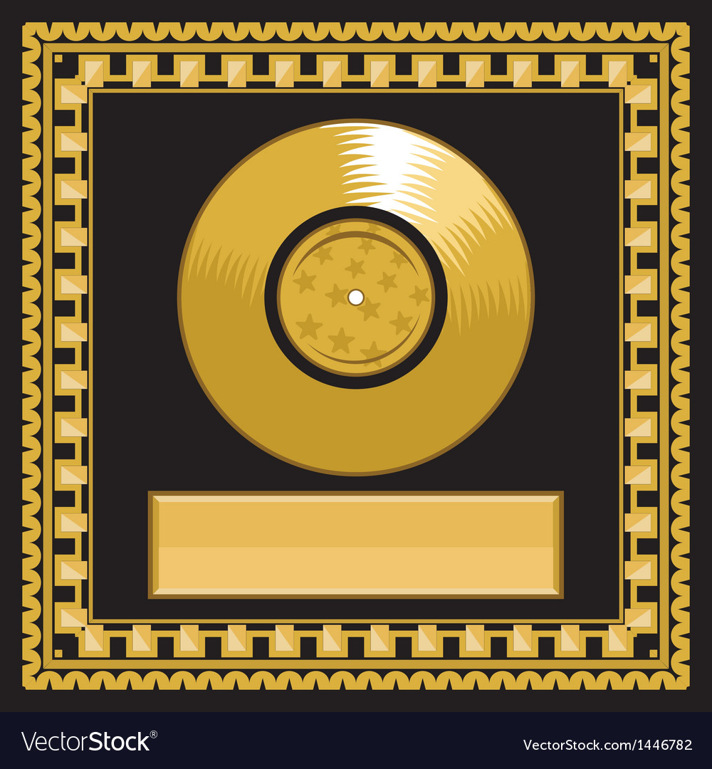 Golden record award vector | Price: 1 Credit (USD $1)