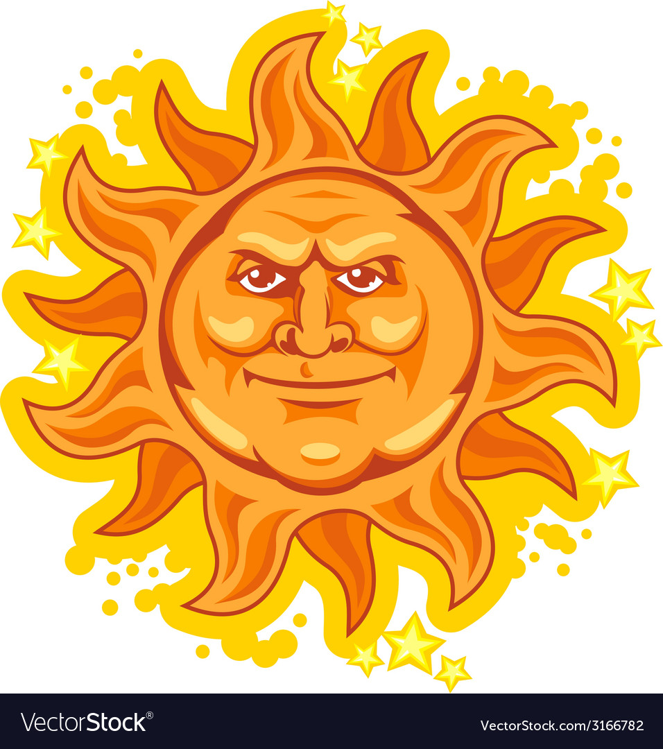 Heat sun vector | Price: 1 Credit (USD $1)