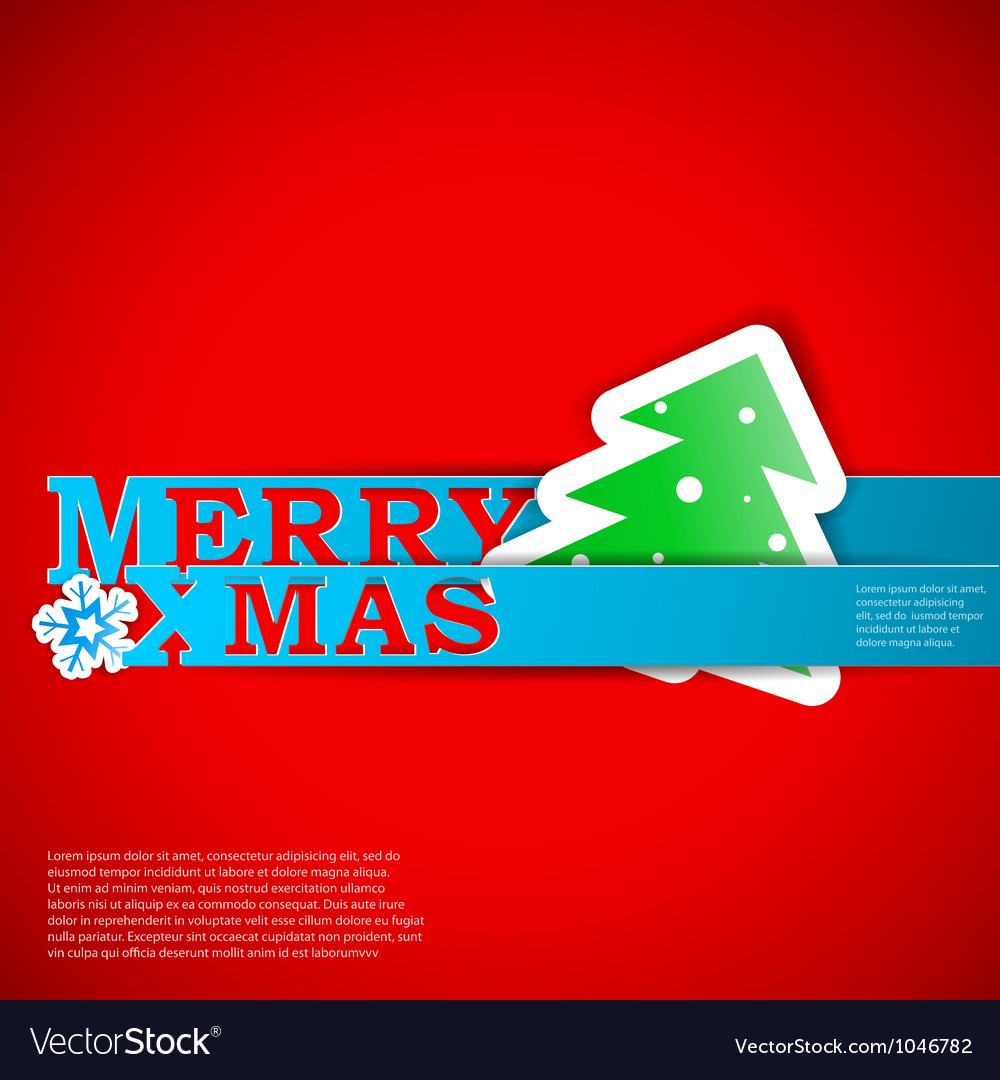 Merry xmas strips card eps10 vector | Price: 1 Credit (USD $1)