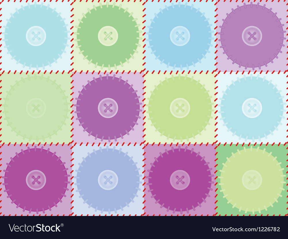 Pattern with patches and buttons vector | Price: 1 Credit (USD $1)