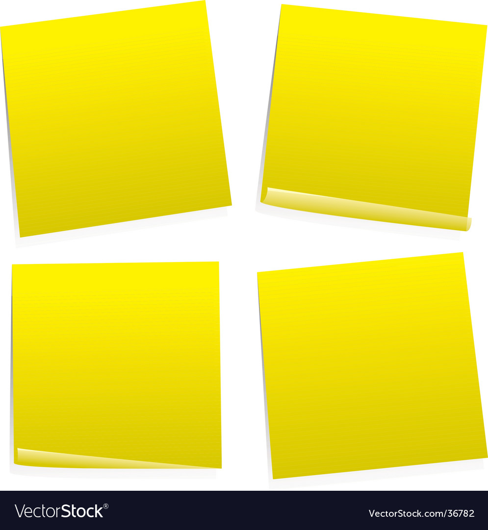 Post it variation vector | Price: 1 Credit (USD $1)
