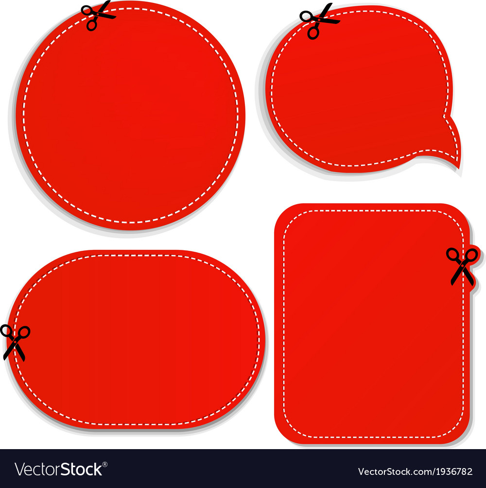 Red announcement coupons set vector | Price: 1 Credit (USD $1)