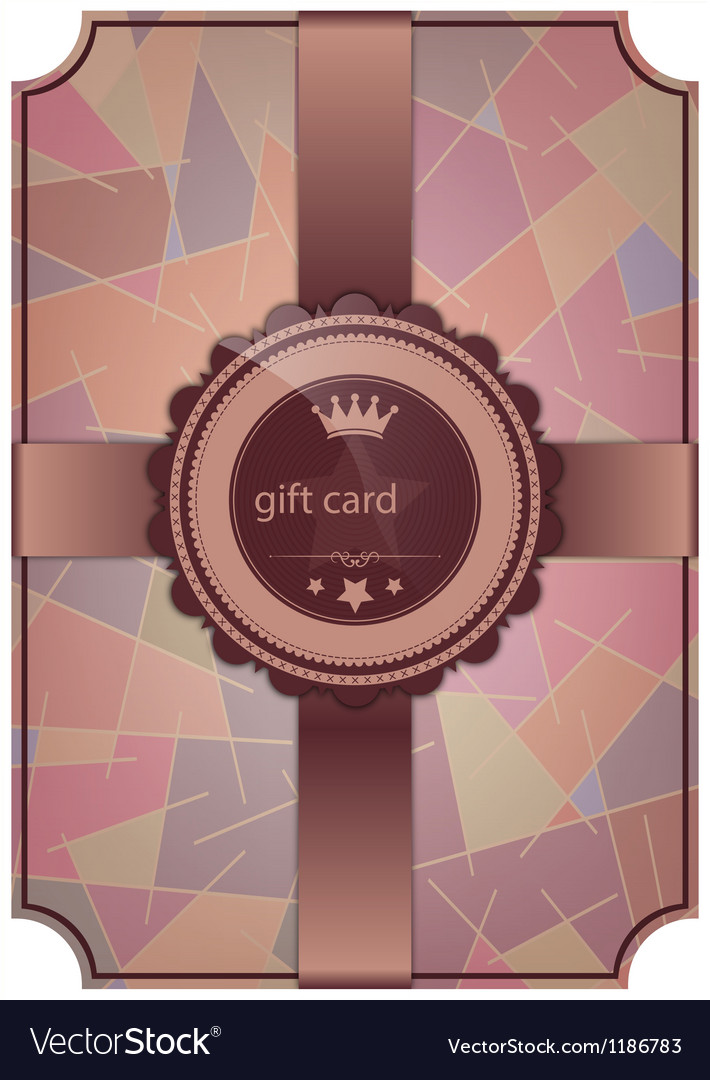 Abstract gift card vector | Price: 1 Credit (USD $1)