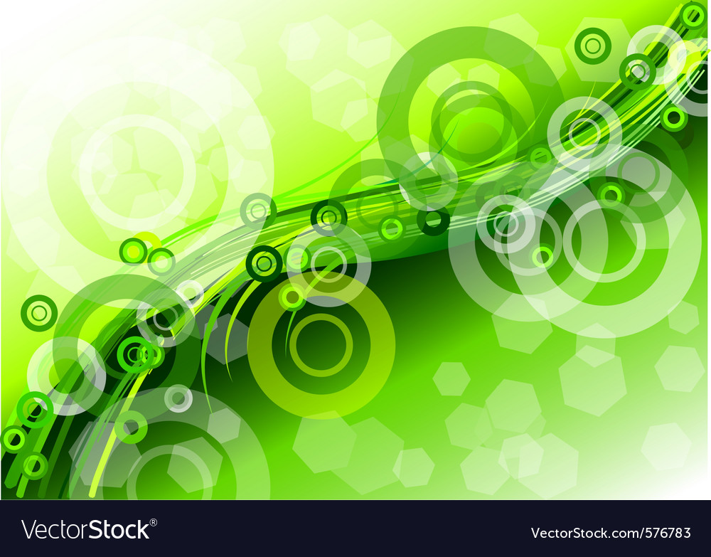 Circles wave background vector | Price: 1 Credit (USD $1)