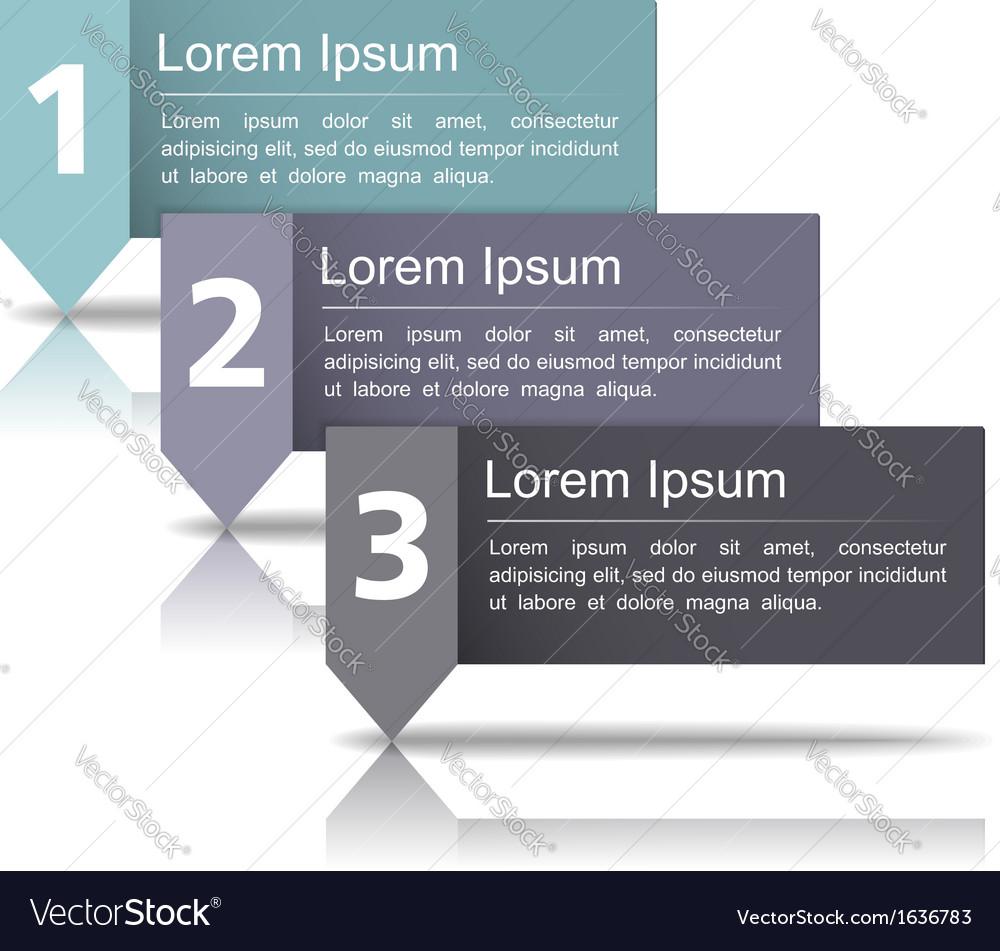 Design template wth three elements vector | Price: 1 Credit (USD $1)