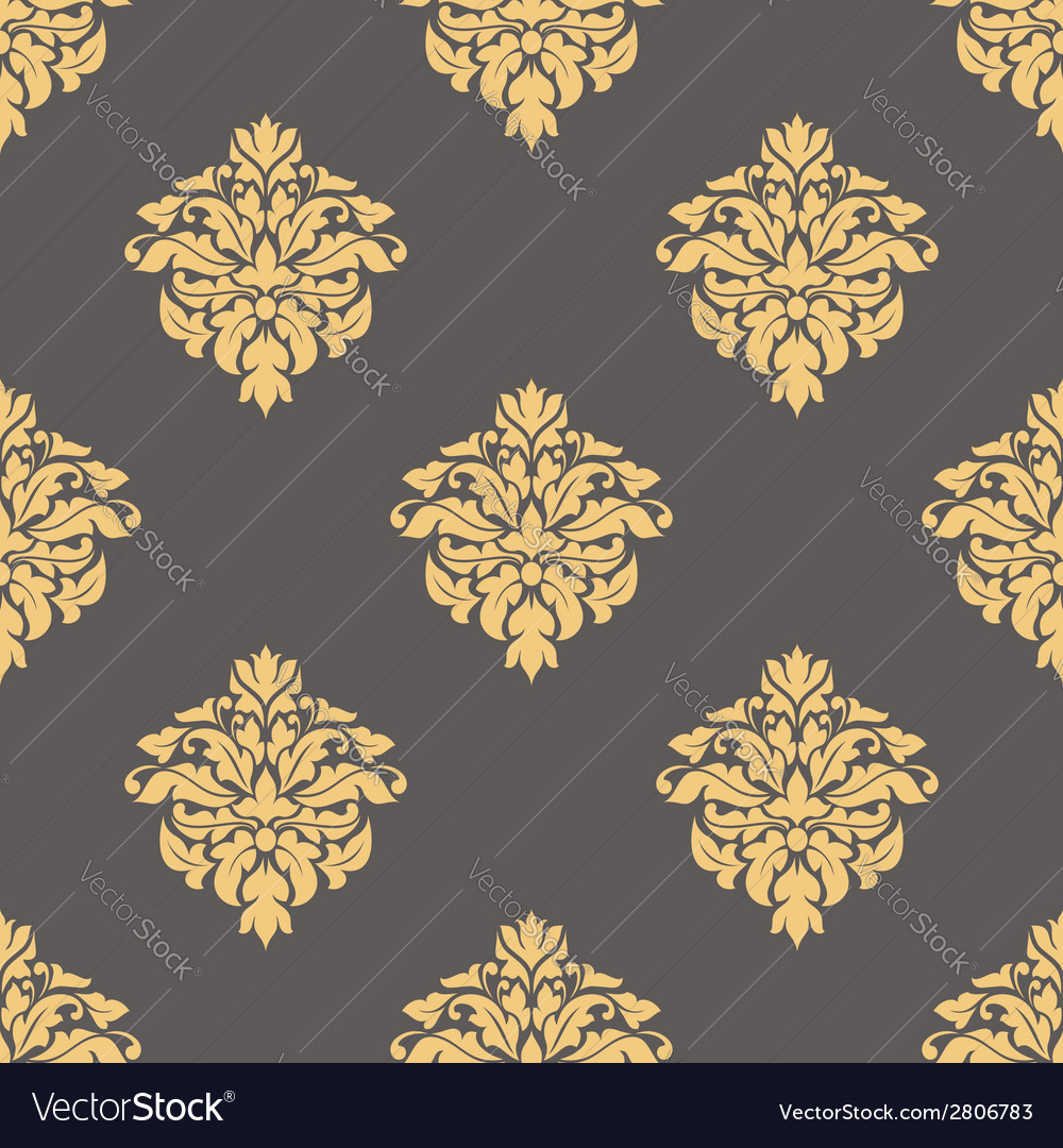 Floral yellow seamless pattern vector | Price: 1 Credit (USD $1)