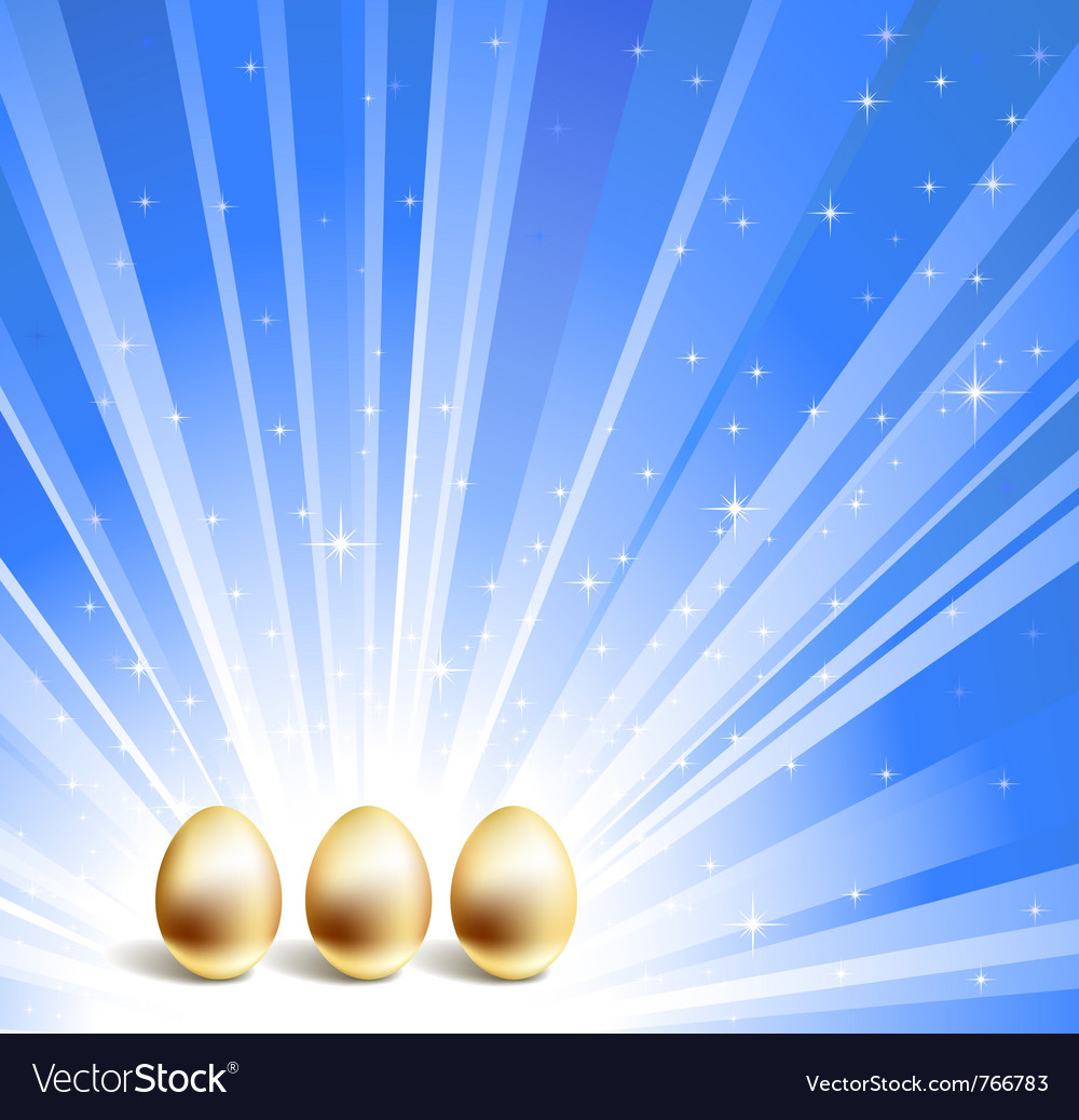 Gold eggs background vector | Price: 1 Credit (USD $1)