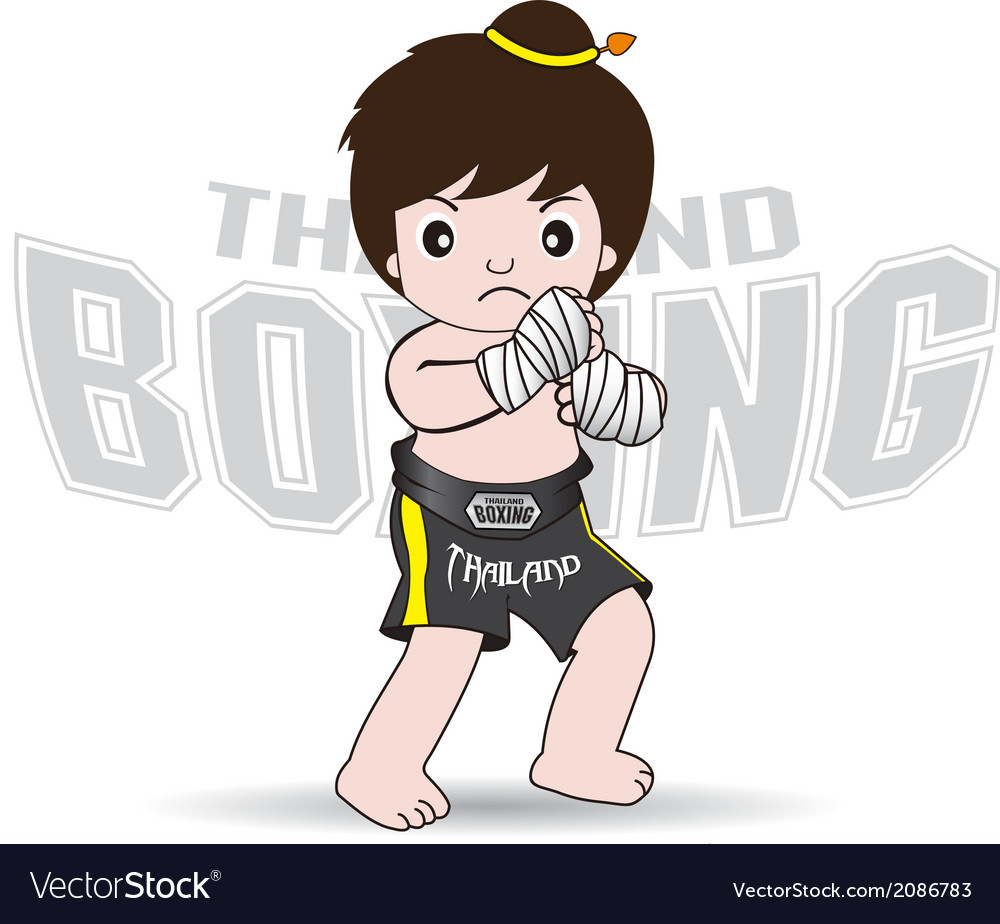 Muay thai fighters thailand boxing vector | Price: 1 Credit (USD $1)