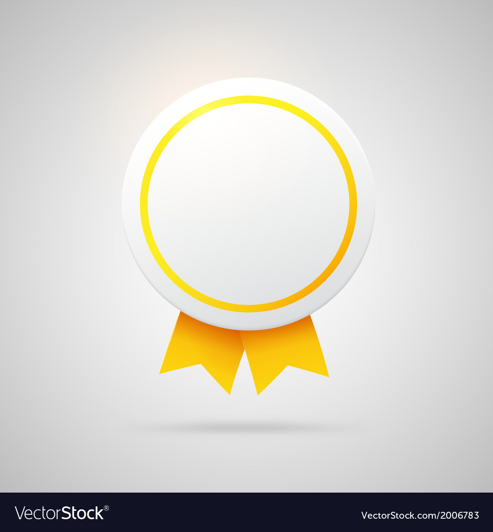 Round award with golden ribbons vector | Price: 1 Credit (USD $1)